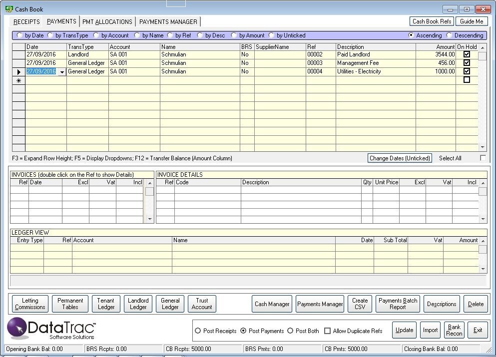 Payment Allocations Datatrac Rentals Management